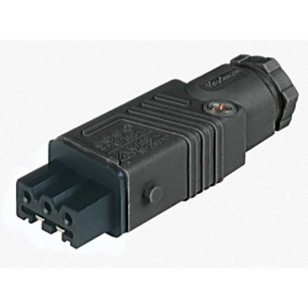 Lumberg Automation , ST IP54 Black Cable Mount 3P+E Industrial Power Socket, Rated At 10.0A, 230.0 V, 400.0 V