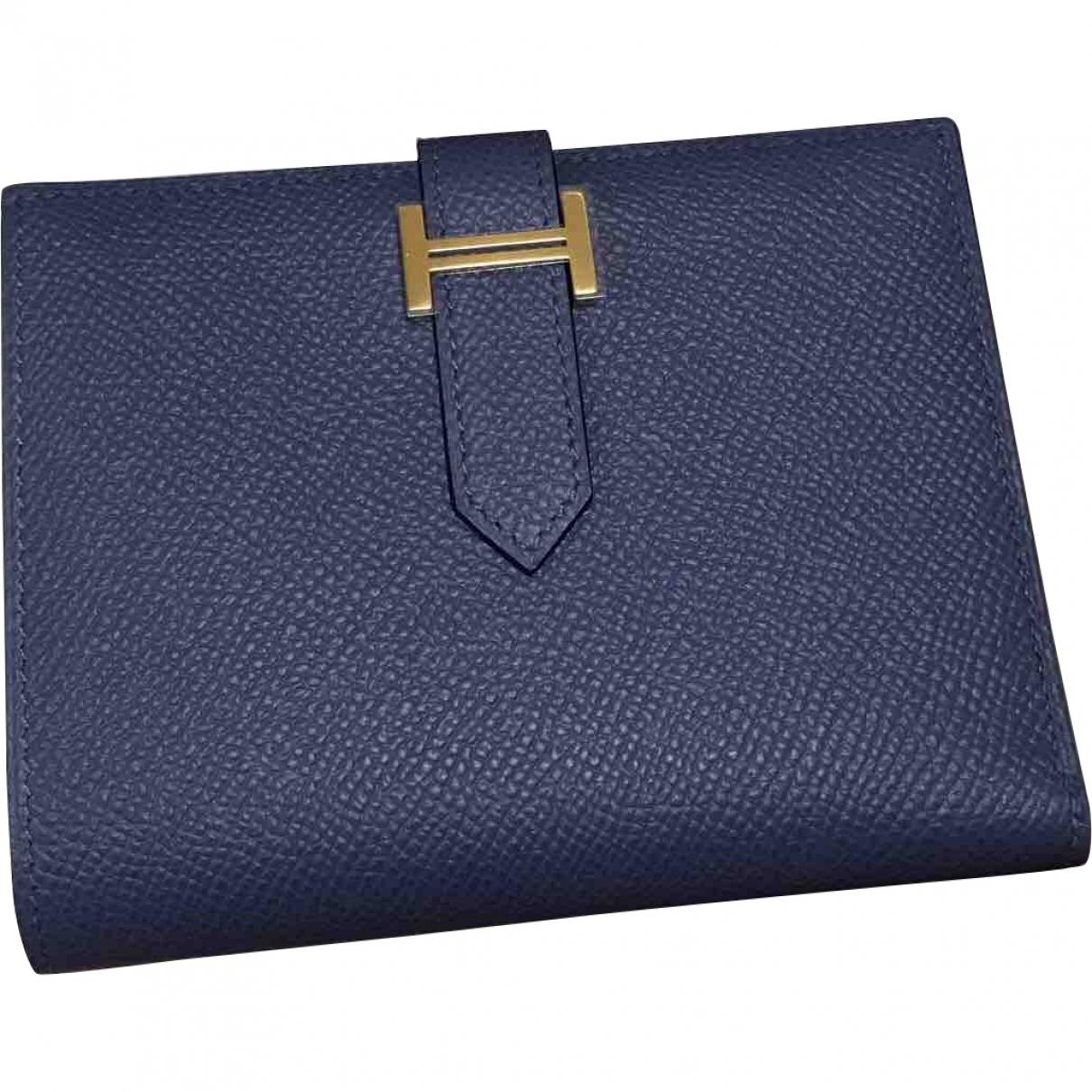 Hermès Béarn Blue Leather wallet for Women \N