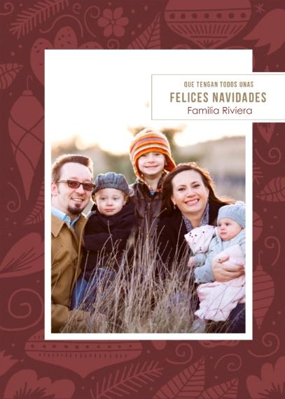 Tarjetas de Navidad 5x7 Cards, Premium Cardstock 120lb with Rounded Corners, Card & Stationery -Felices Navidades