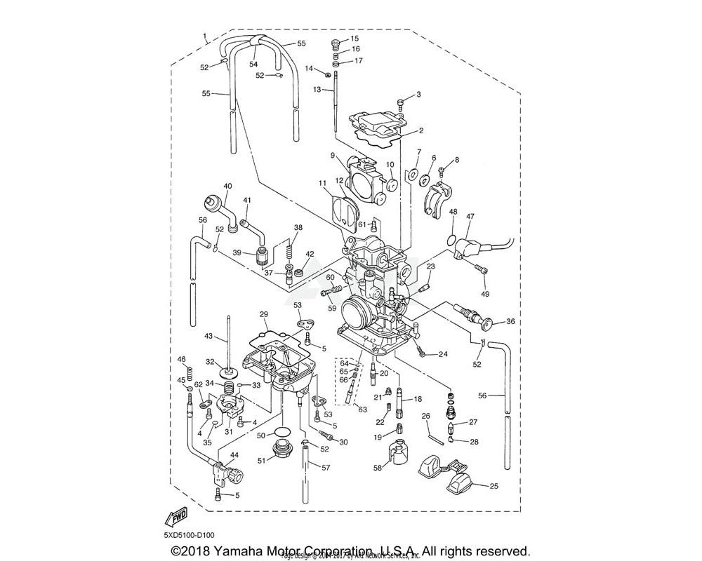 Yamaha OEM 4JT-1494F-05-00 JET (#45) | AP