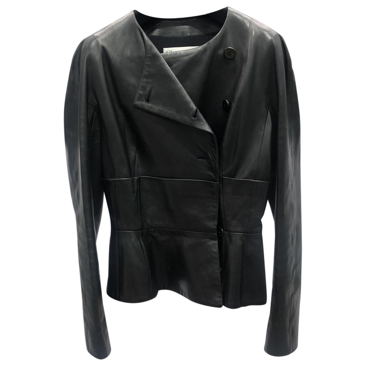 Christian Dior \N Black Leather Leather jacket for Women 36 FR
