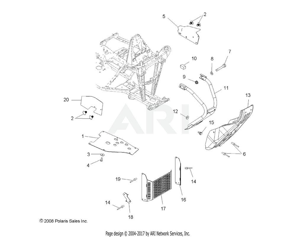 Polaris OEM 5811675 Plug, Frame, Foam