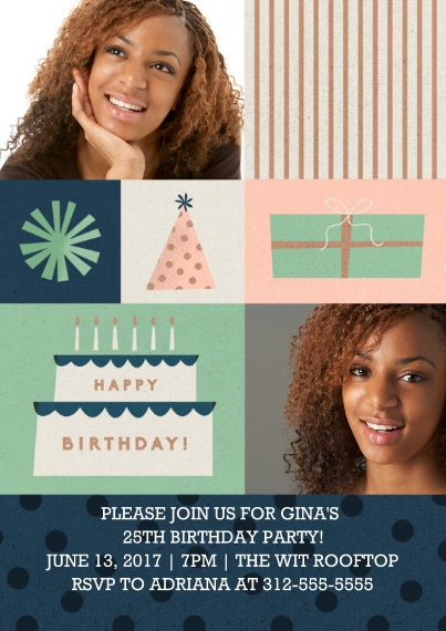 Kids Birthday Party 5x7 Cards, Premium Cardstock 120lb, Card & Stationery -Birthday Blocks Invitation by Well Wishes