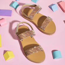 Toddler Girls Glitter Decor Sandals