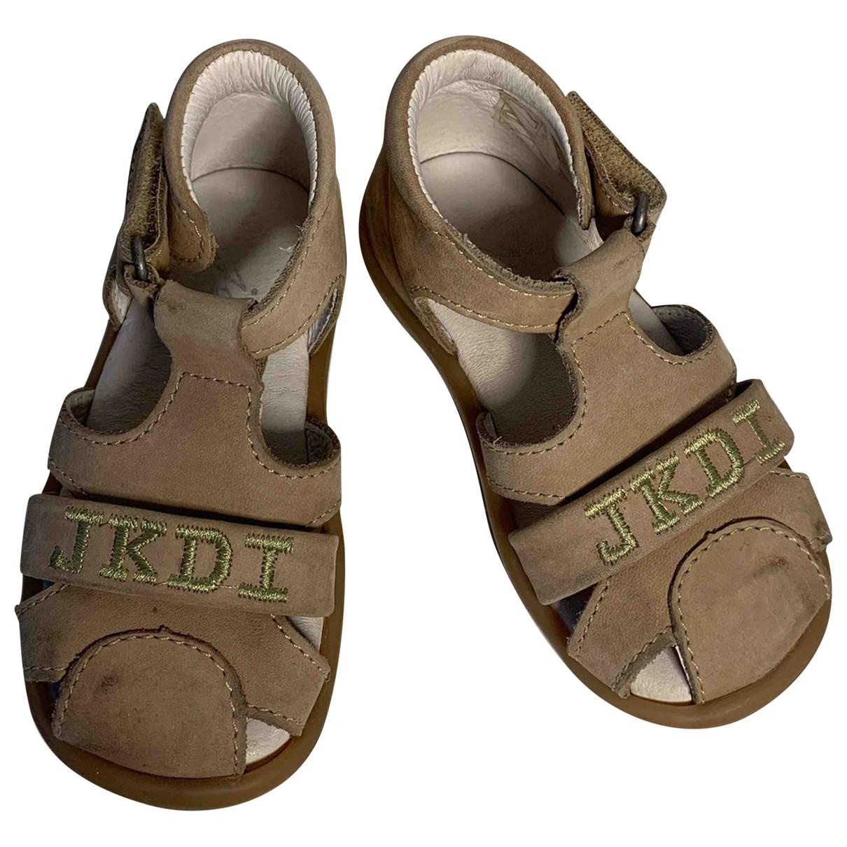 Jacadi - Sandales   pour enfant en suede - beige