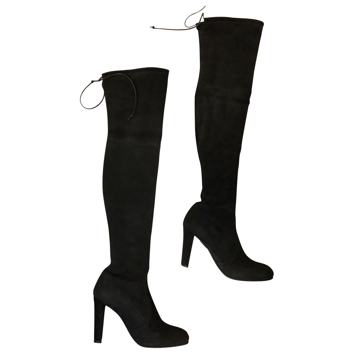 Stuart Weitzman \N Black Suede Boots for Women 38 EU