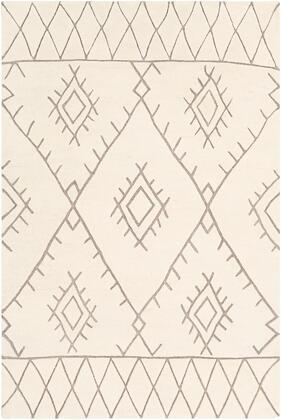 Souk SOU-2301 6' x 9' Rectangle Global Rugs in Medium Gray