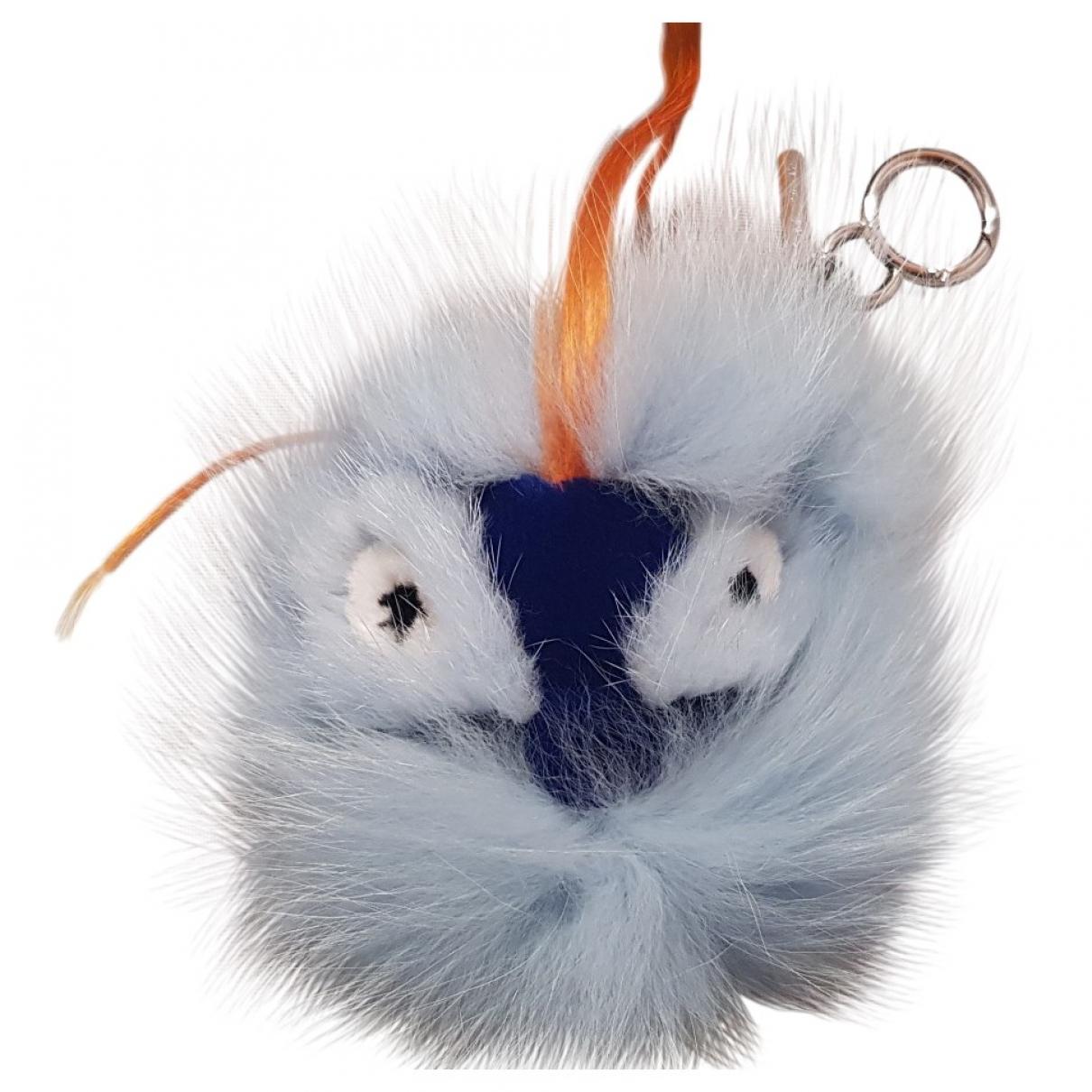 Fendi - Petite maroquinerie   pour femme en renard - turquoise