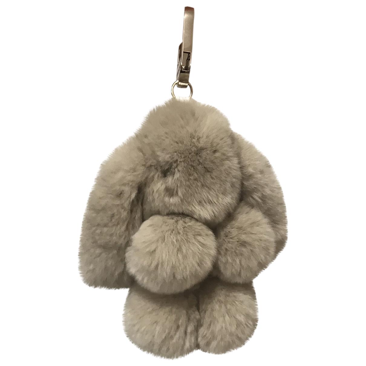 Yves Salomon - Bijoux de sac   pour femme en lapin - gris