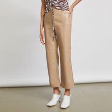 Pantalones de cuero sintetico
