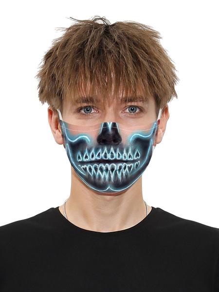 Milanoo Costume Accessories Covering Halloween Skull Print