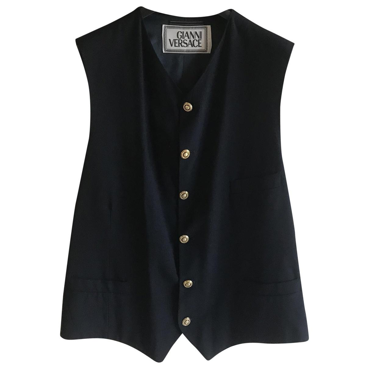 Gianni Versace \N Pullover.Westen.Sweatshirts  in  Schwarz Wolle