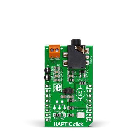 MikroElektronika MIKROE-2025 Haptic Click DC mikroBus Click Board for DRV2605 for ERM & LRA Vibration Motor