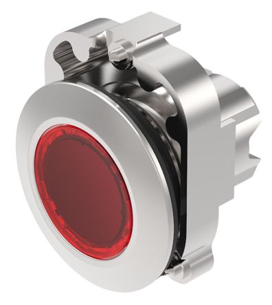 EAO Series 45 Red LED Actuator, IP20, IP40, IP66, IP67, IP69K, 30.5 (Dia.)mm, Panel Mount, 500V ac/dc