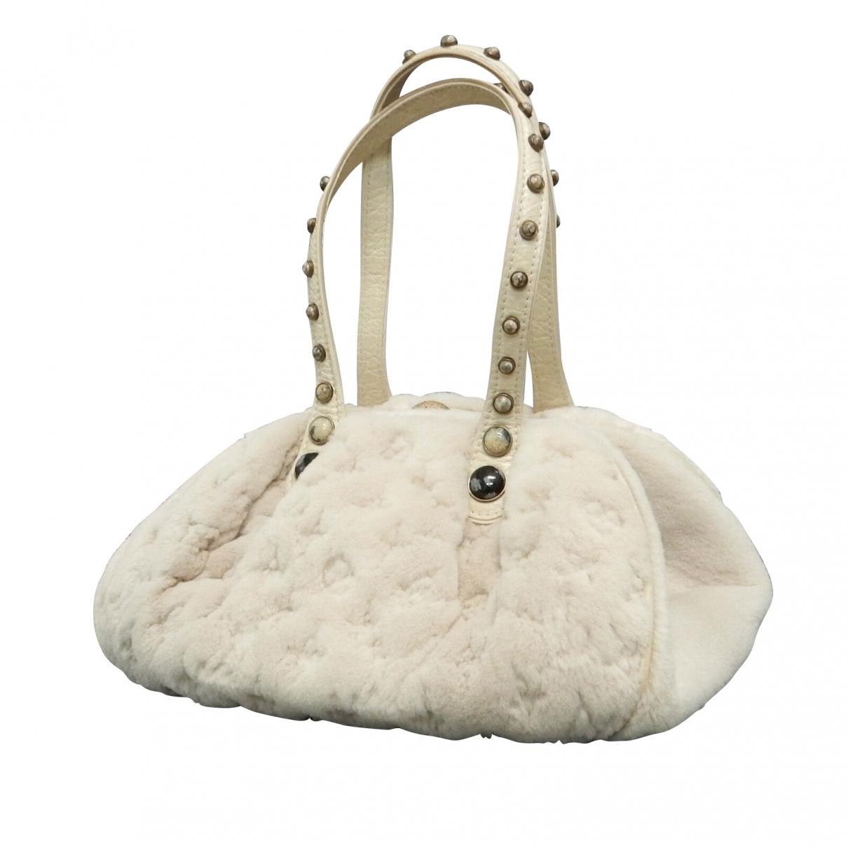Louis Vuitton - Sac a main   pour femme en fourrure - ecru