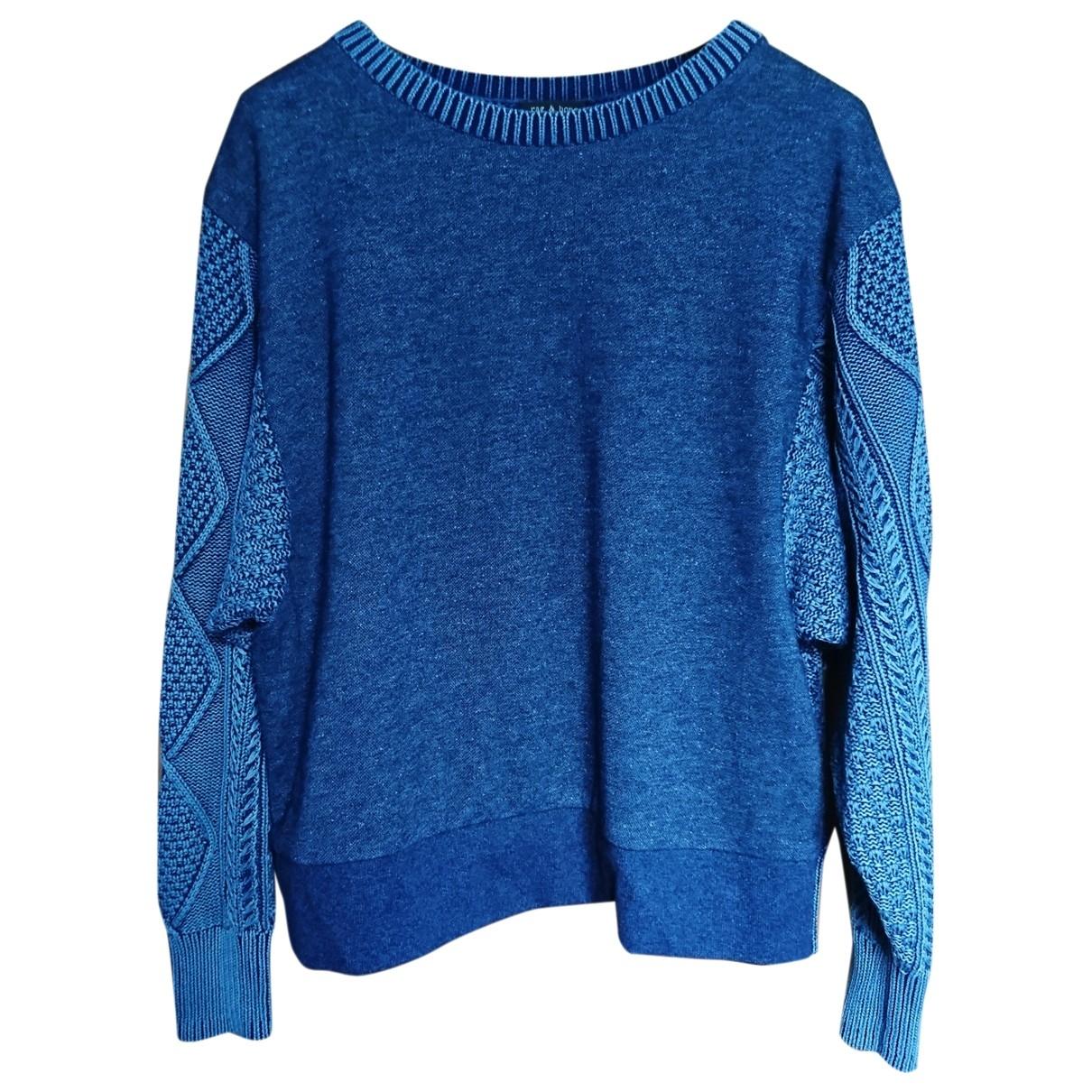 Rag & Bone - Pull   pour femme en coton - bleu