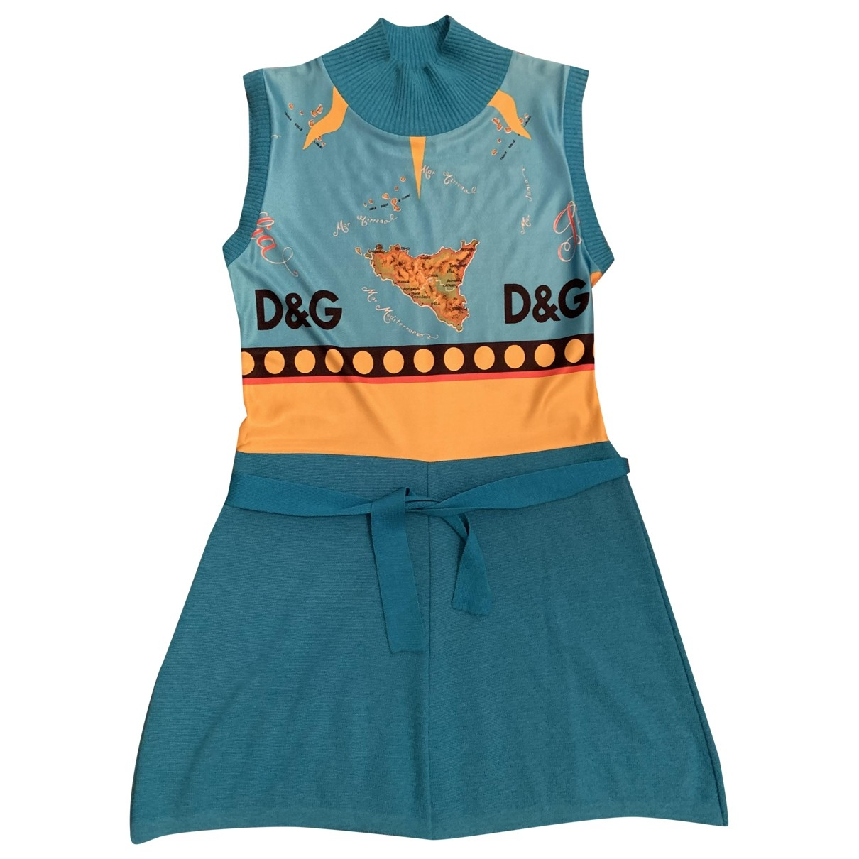 D&g \N Turquoise Cotton dress for Women 44 IT