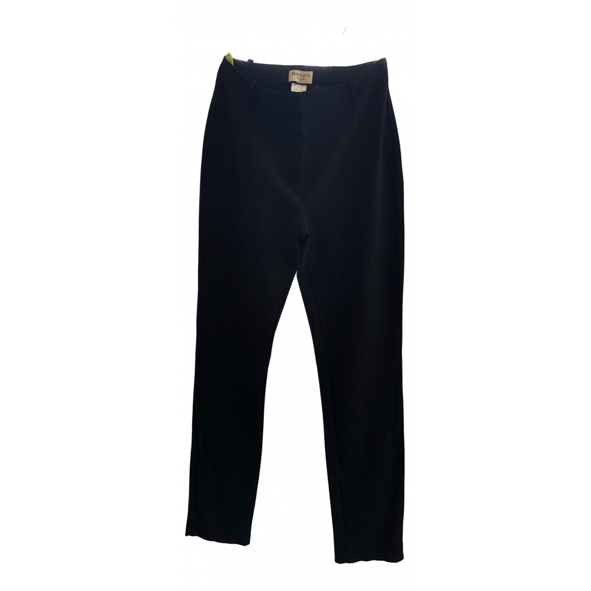 Max & Co \N Black Wool Trousers for Women 44 IT