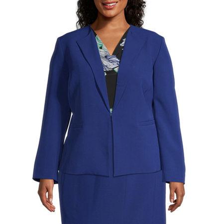 Black Label by Evan-Picone-Plus Suit Jacket, 18w , Blue
