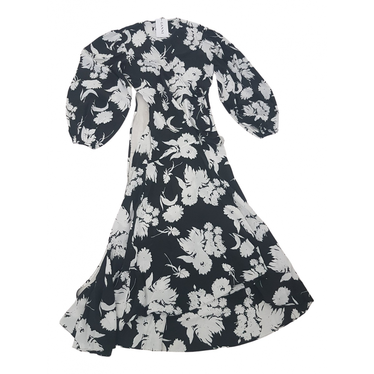 Ganni Spring Summer 2020 Black Silk dress for Women 36 FR