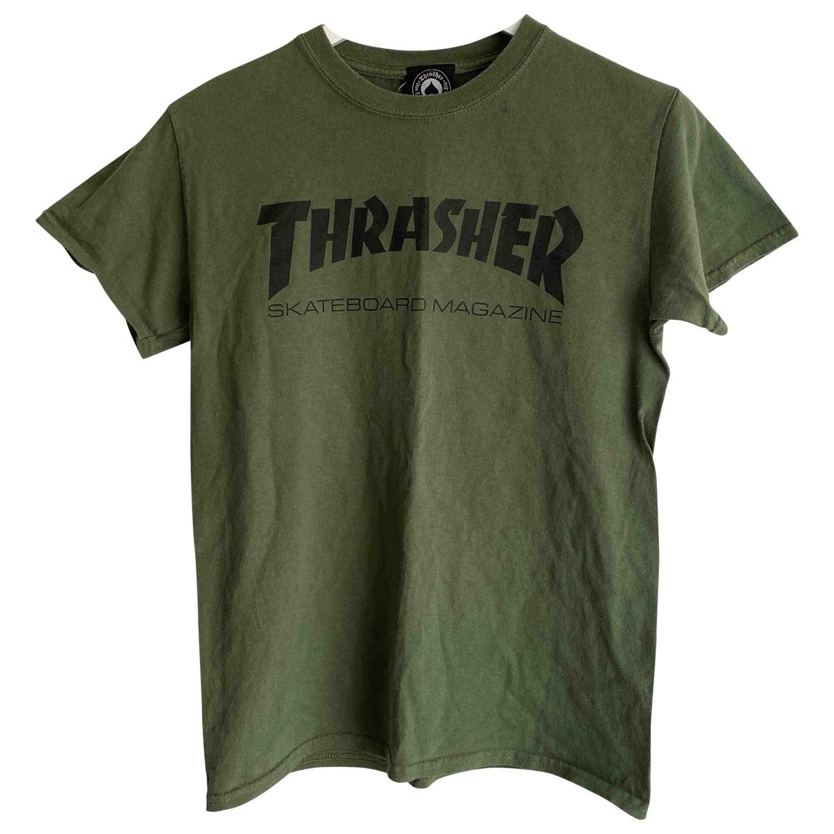Thrasher Magazine \N T-Shirts in  Gruen Baumwolle