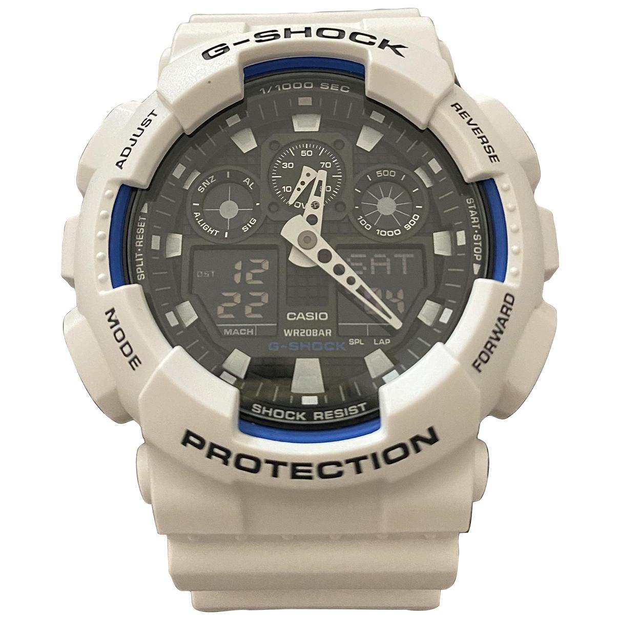 G-shock - Montre   pour homme en acier - blanc