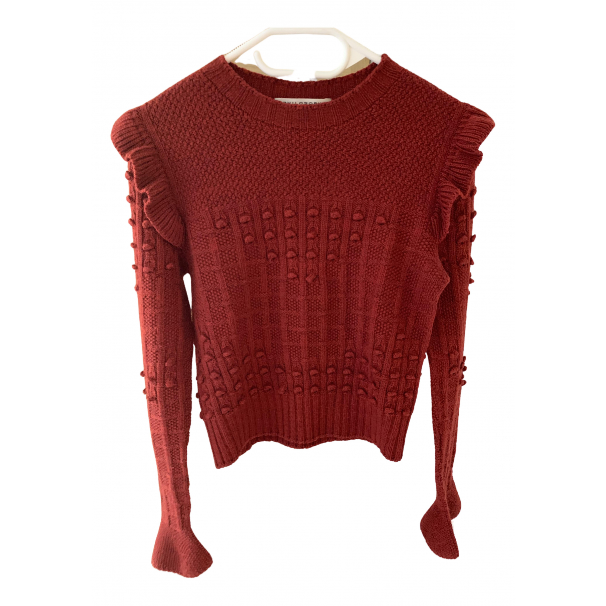 Philosophy Di Lorenzo Serafini - Pull   pour femme en laine - rouge