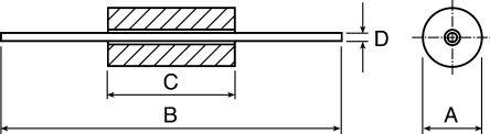 Fair-Rite Ferrite Bead, 3.5 (Dia.) x 11.4mm (Axial), 145Ω impedance at 25 MHz (25)