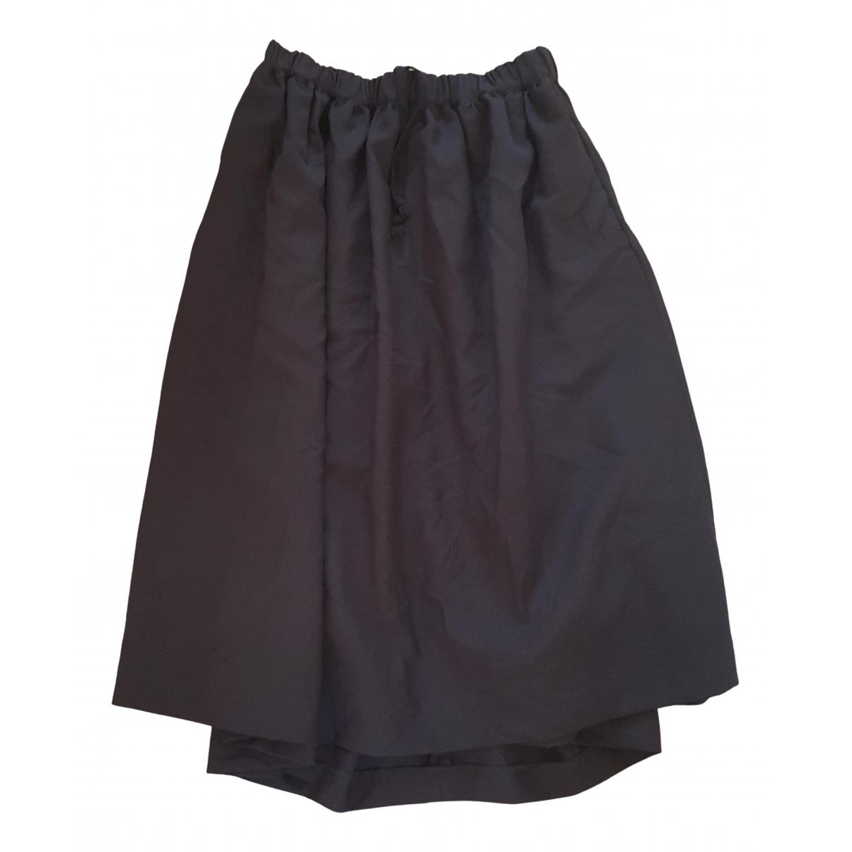 Falda midi de Lana Comme Des Garcons