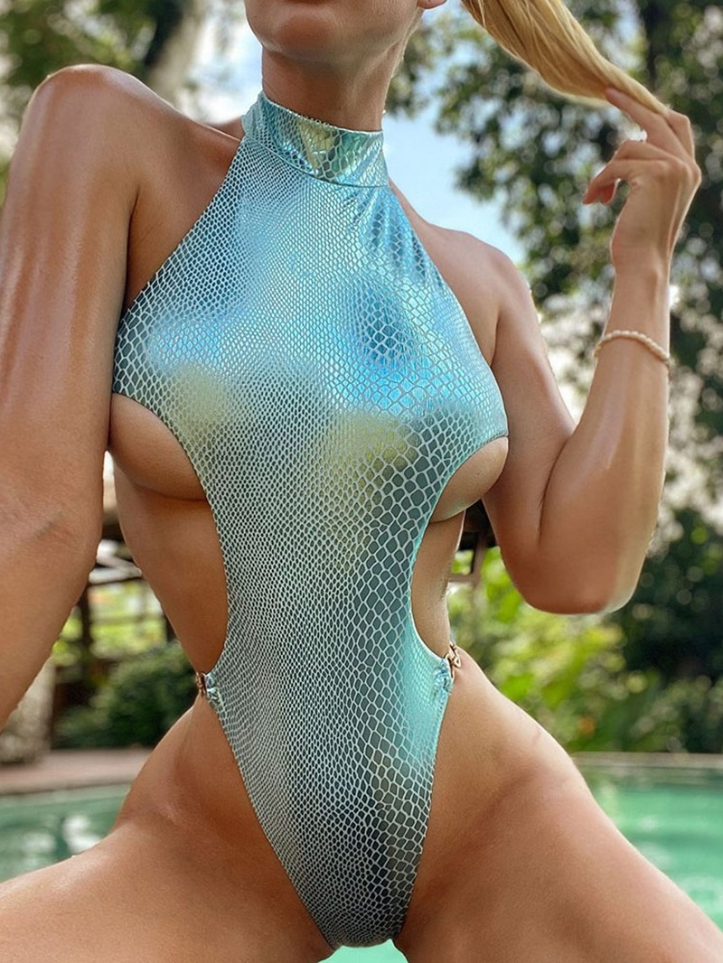 Ericdress Sexy Plain Women's One Piece Slim Swimwear