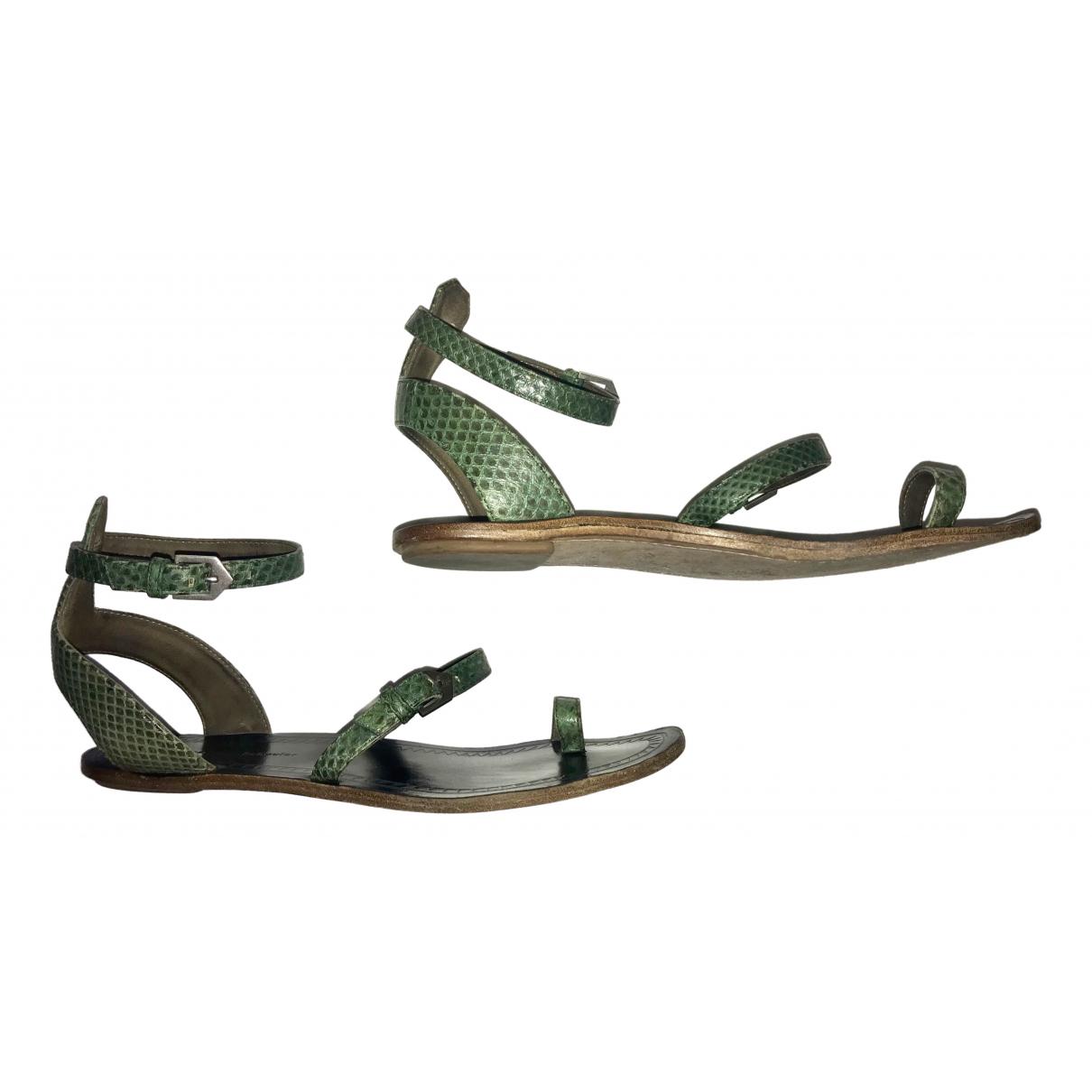 Proenza Schouler \N Sandalen in  Gruen Leder