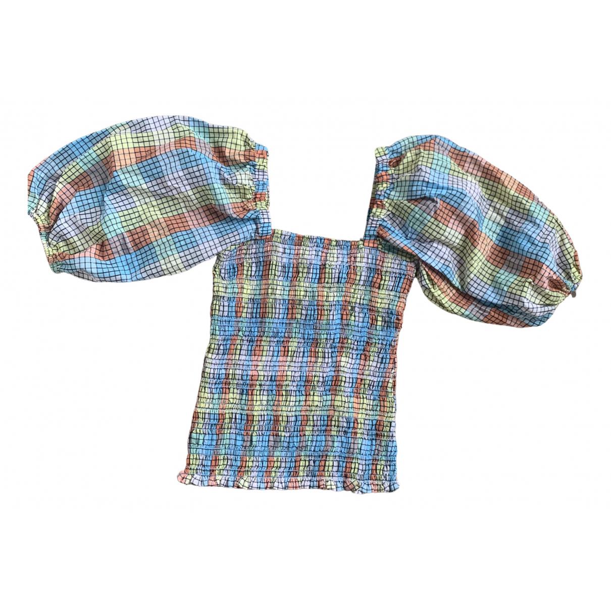 Ganni - Top   pour femme en coton - multicolore
