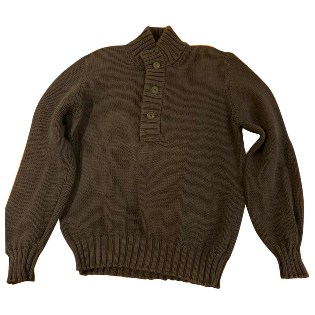 Brunello Cucinelli \N Pullover.Westen.Sweatshirts  in  Marine Baumwolle