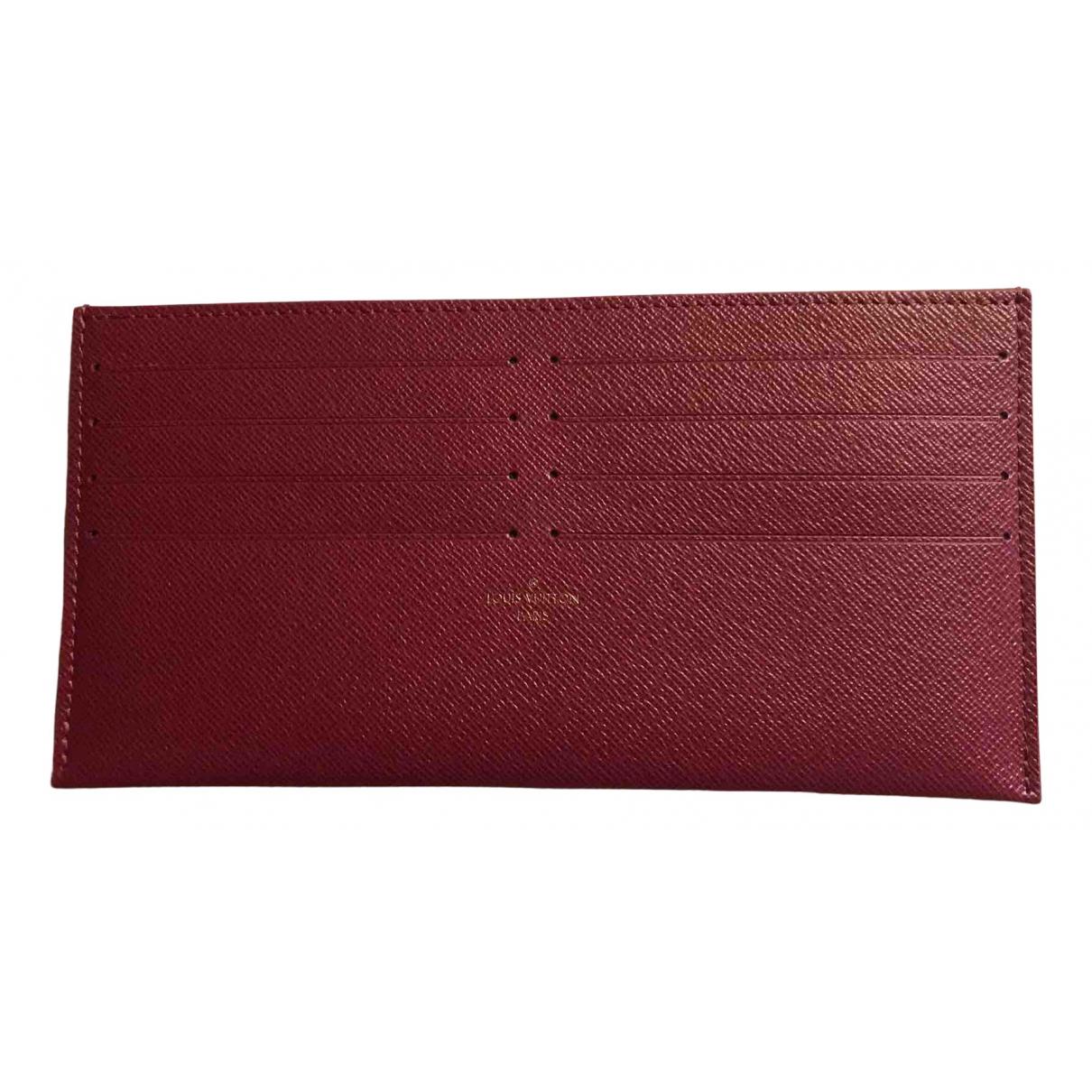 Louis Vuitton - Petite maroquinerie   pour femme en toile - bordeaux