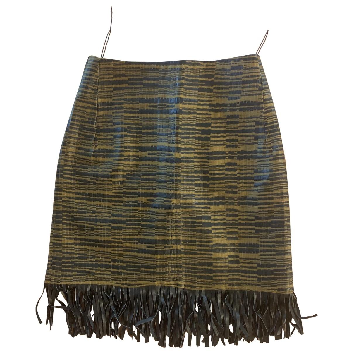 Willow - Jupe   pour femme en cuir - noir