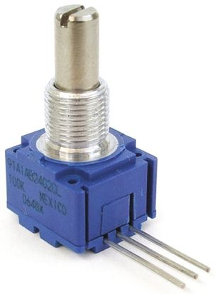 Bourns 1 Gang Rotary Conductive Plastic Potentiometer with an 6.35 mm Dia. Shaft - 5kΩ, ±20%, 0.5W Power Rating,