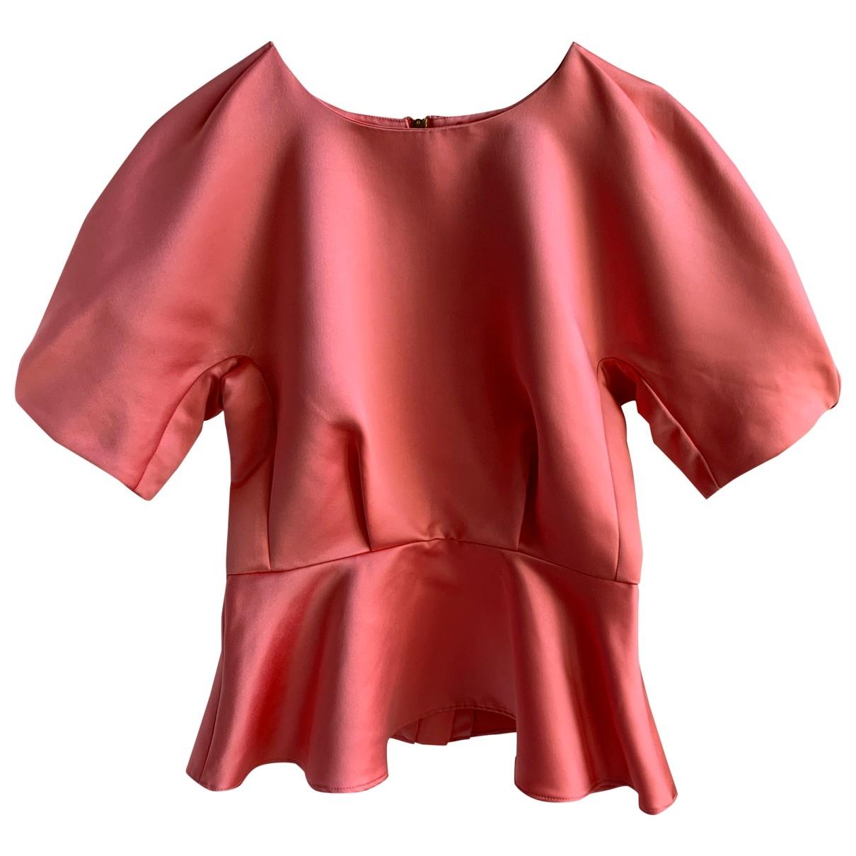 Non Signé / Unsigned Manche ballon Pink  top for Women 38 FR