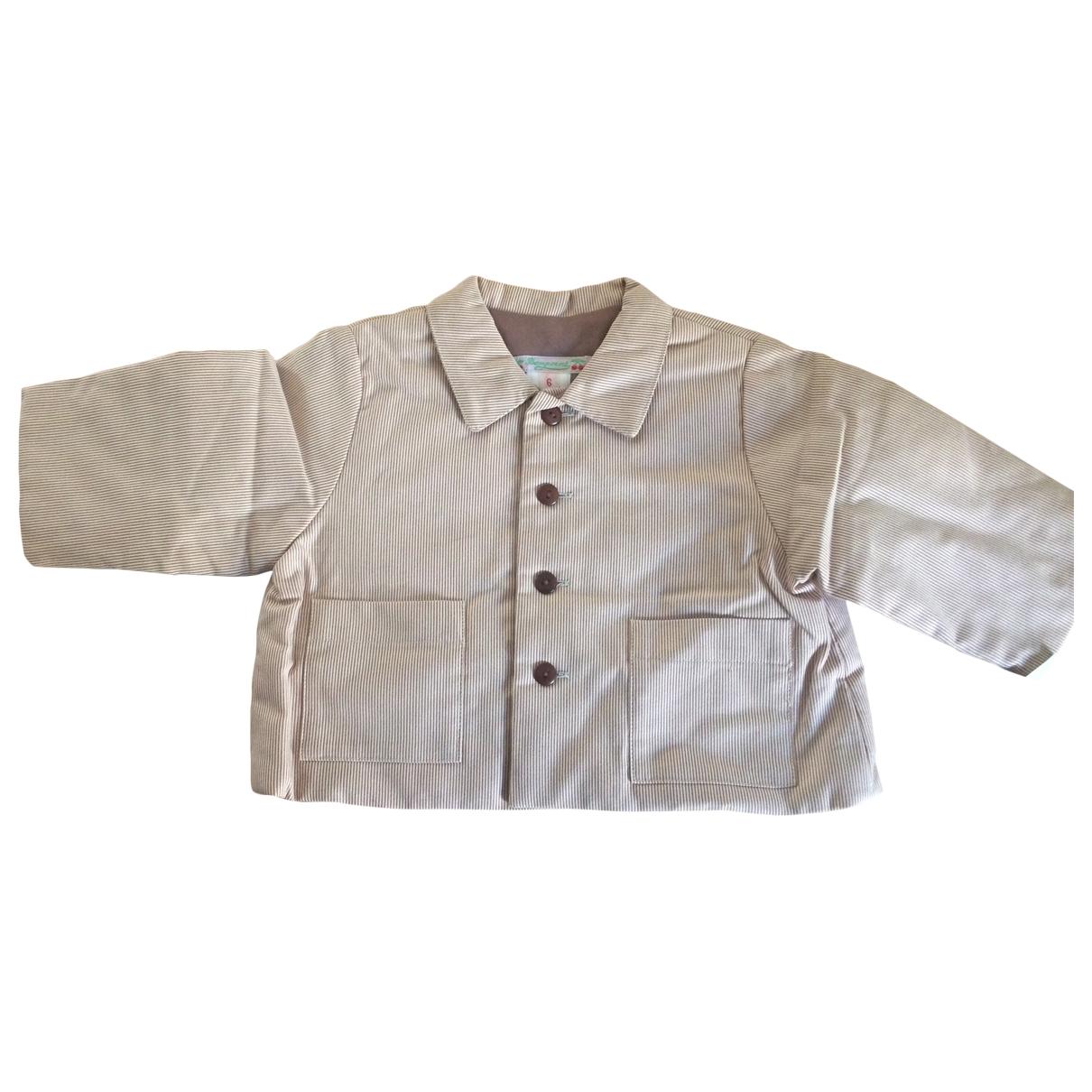 Bonpoint - Blousons.Manteaux   pour enfant en coton - camel