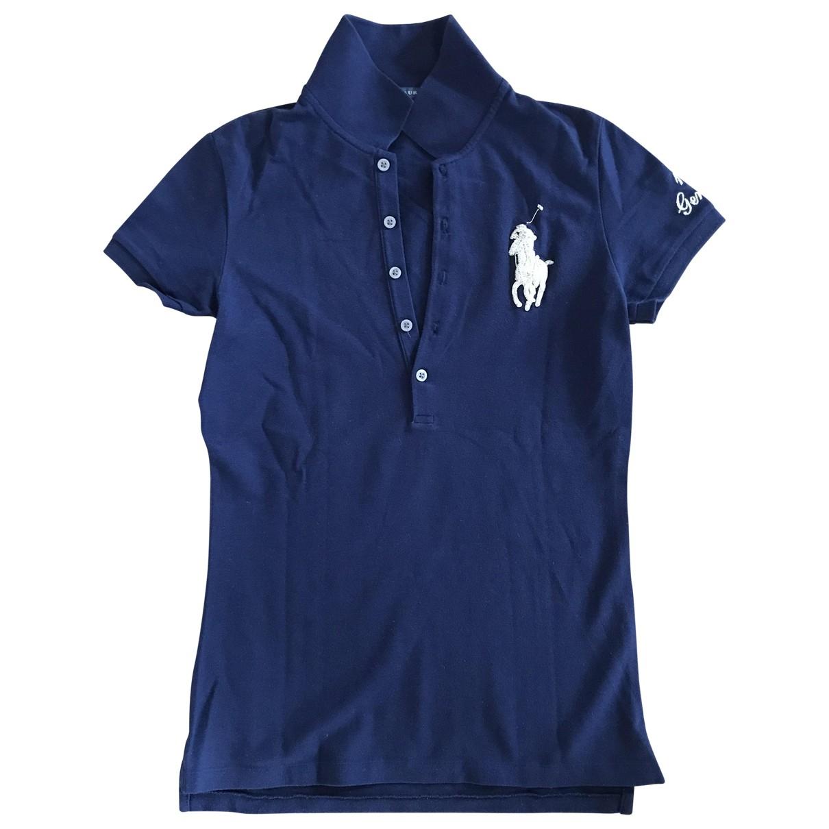 Top Polo cintre manches courtes en Algodon Marino Polo Ralph Lauren