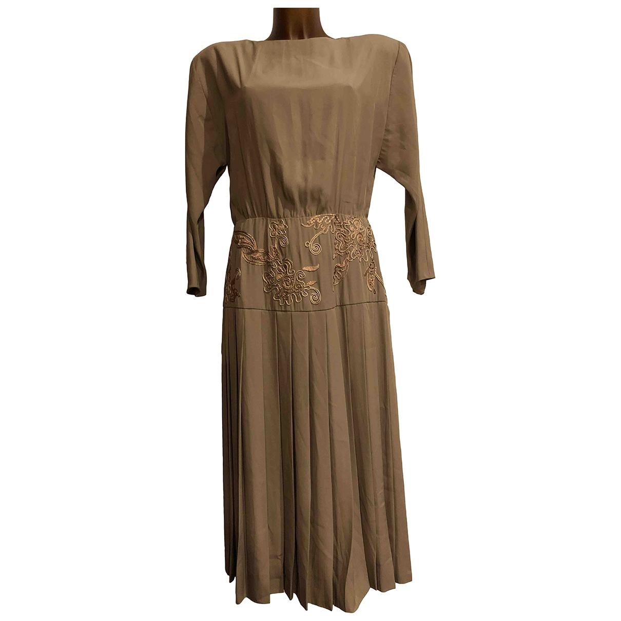 Non Signé / Unsigned Oversize Beige dress for Women 32 FR