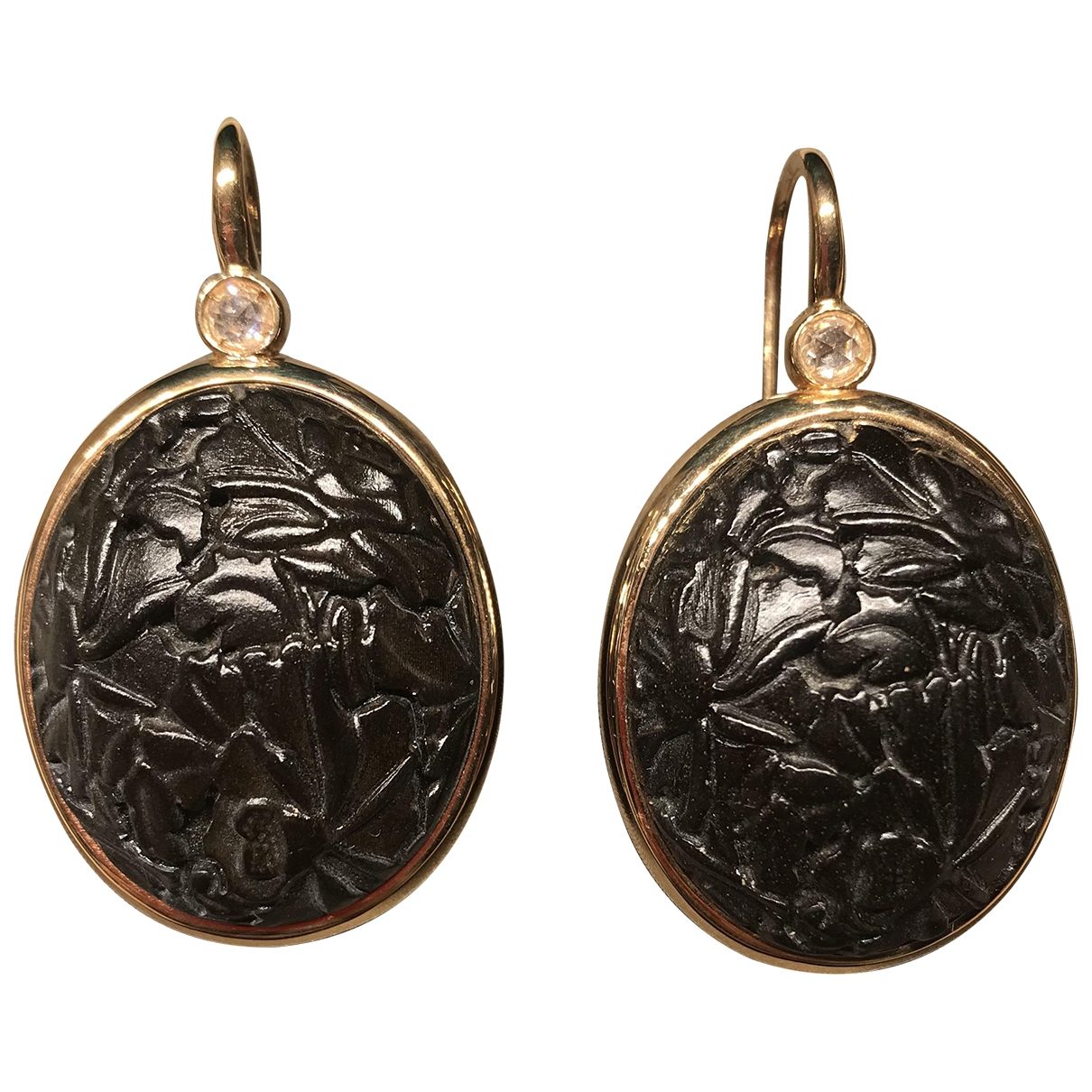 Pomellato - Boucles doreilles Victoria pour femme en or rose - noir