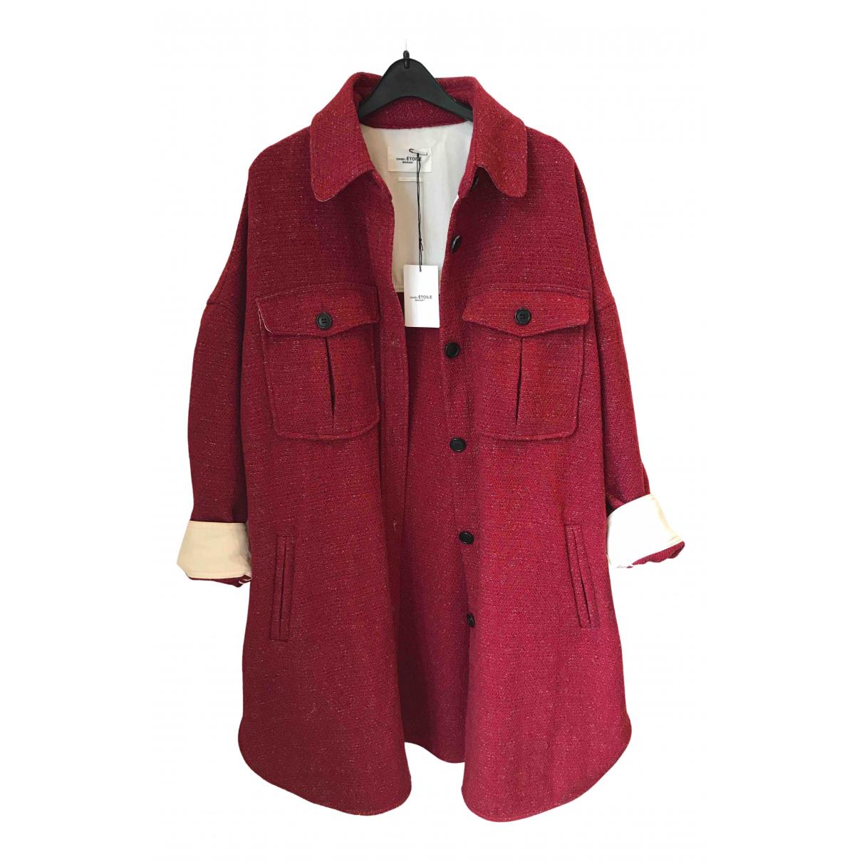 Isabel Marant Etoile \N Lederjacke in  Rot Wolle