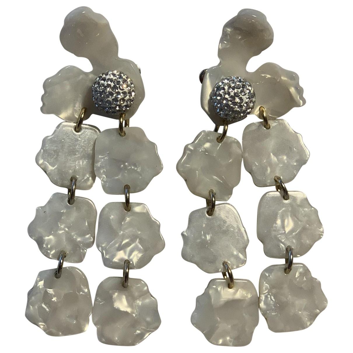 Lele Sadoughi - Boucles doreilles   pour femme en perles - ecru