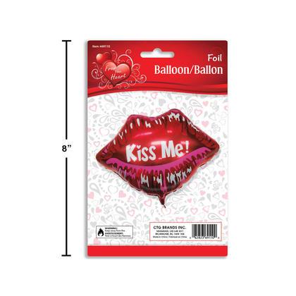 Foil Balloon Kiss Me! V'tines Lip Shaped 1Pc
