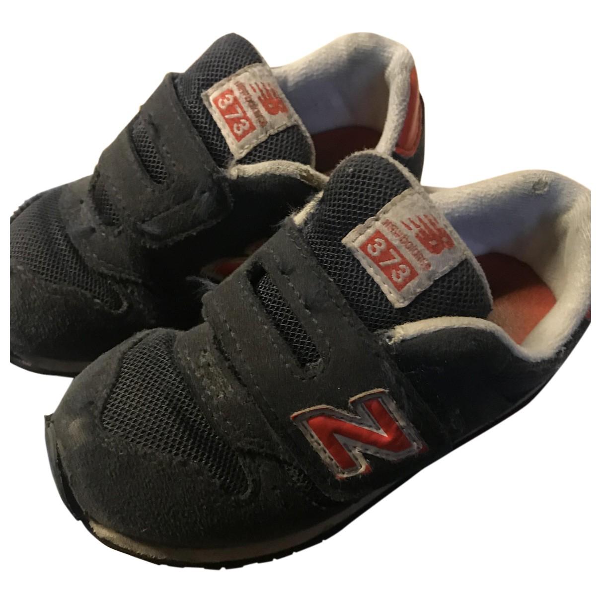 New Balance - Bottes.Bottines   pour enfant en suede - bleu