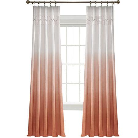Vue Signature Arashi Fashion Rod-Pocket Curtain Panel, One Size , Pink