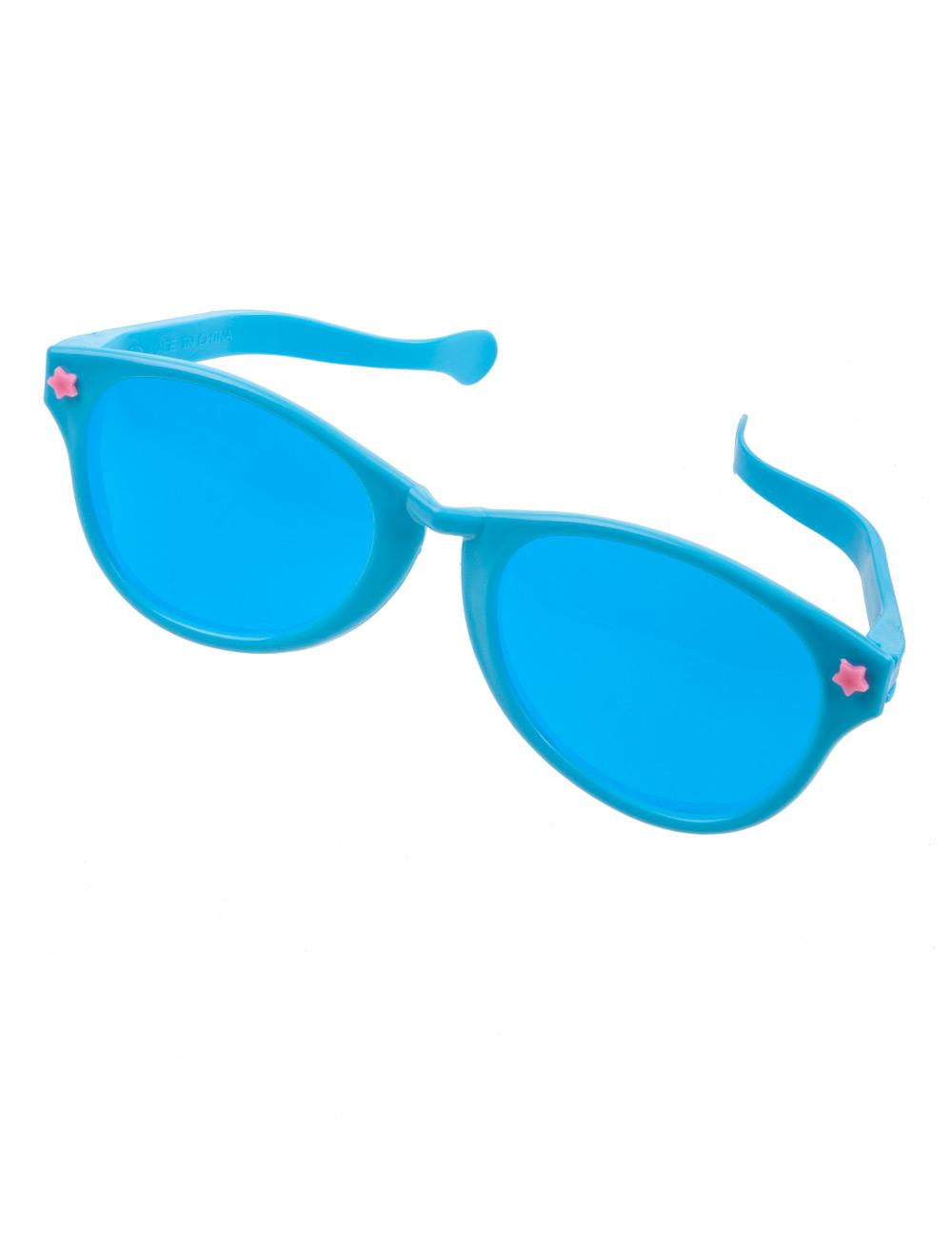 Kostuemzubehor Brille riesig blau