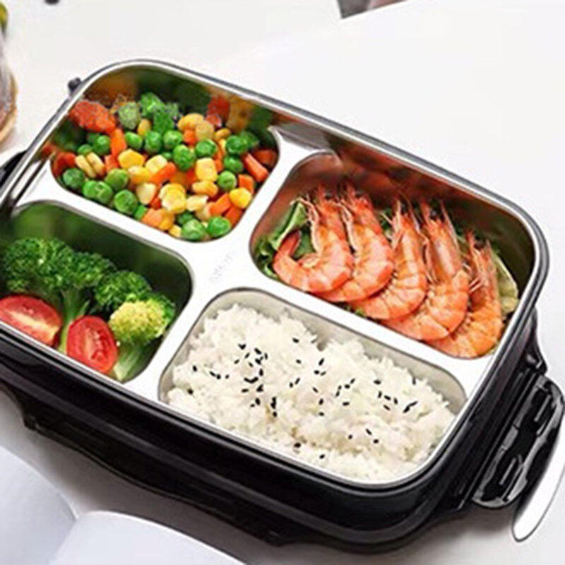 304 Stainless Steel Lunch Box Large Capacity Lunch Box Oven Heating Lunch Box Insulated Compartment Lunch Box