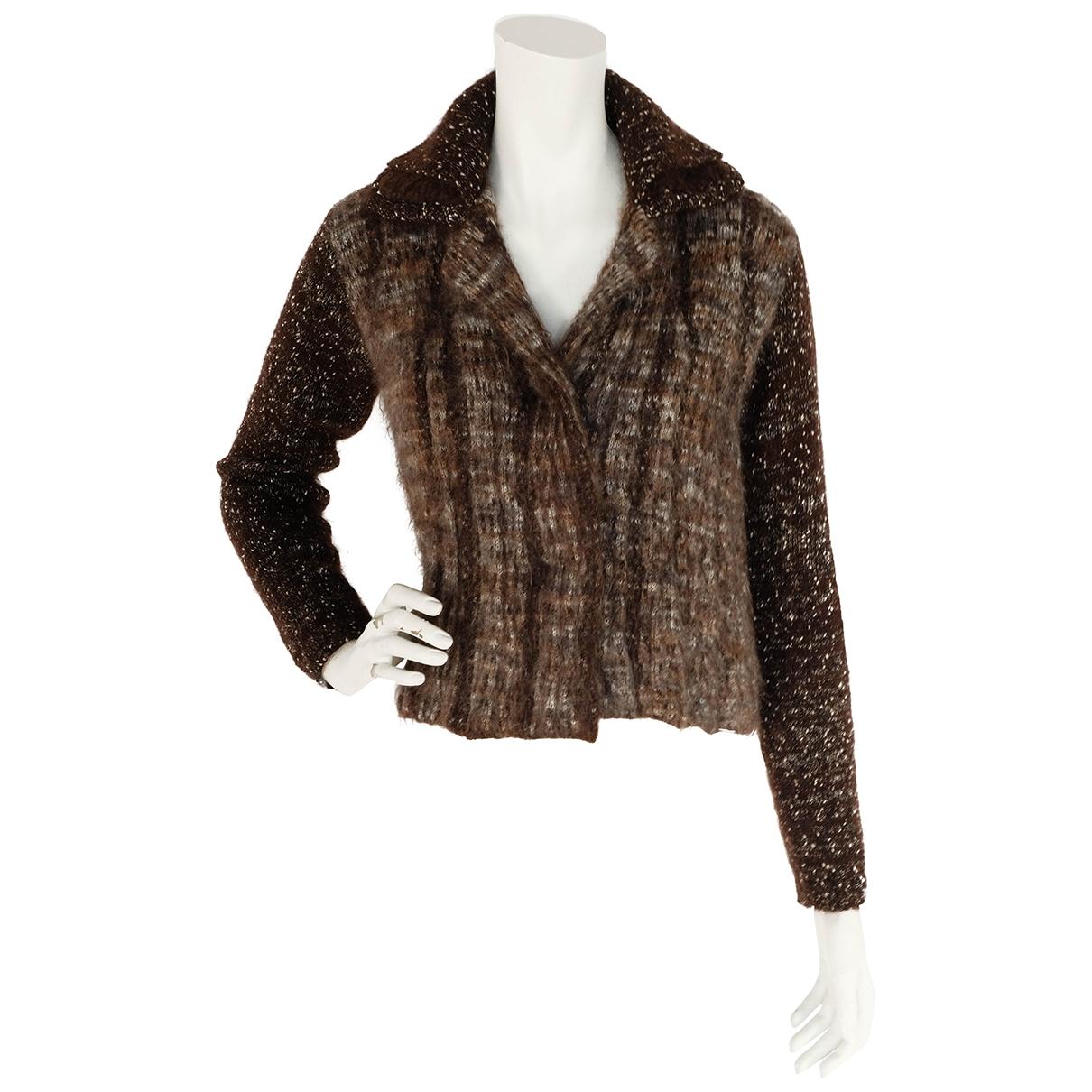 Prada - Pull   pour femme en laine - marron