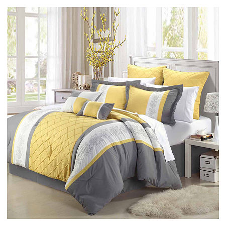 Chic Home Livingston 8-pc. Midweight Comforter Set, One Size , Yellow